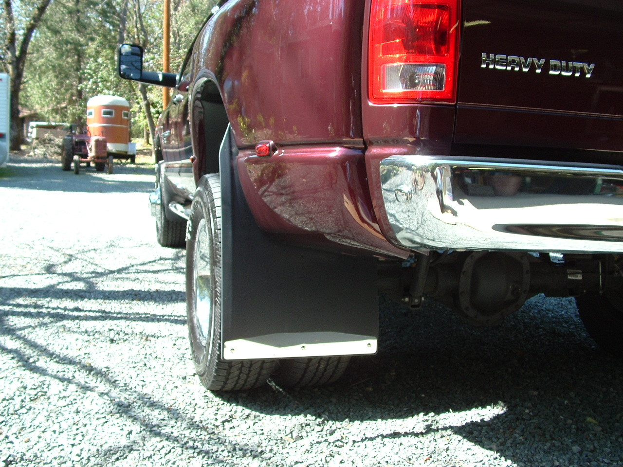 D Anyone Using These Mopar Mud Flaps Large Dually Tires Dodge on 06 Dodge 3500 4x4