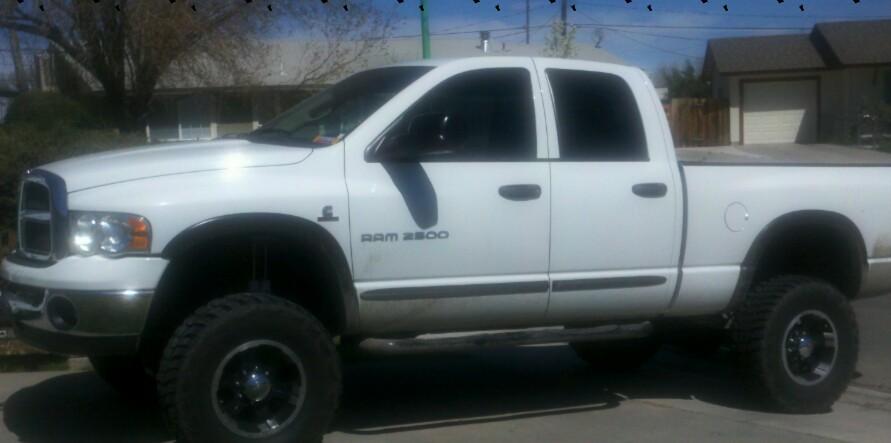 White Truck With Black Rims Dodge Cummins Diesel Forum