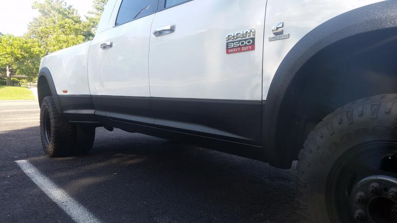 Dodge Ram 2015 >> line-x my rockers and fender flares!!! - Dodge Cummins ...