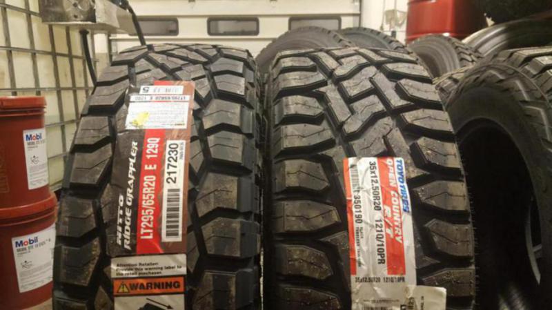 Tire Size Comparison Side By Side >> Toyo rt vs nitto ridge grappler pic comparison - Dodge Cummins Diesel Forum
