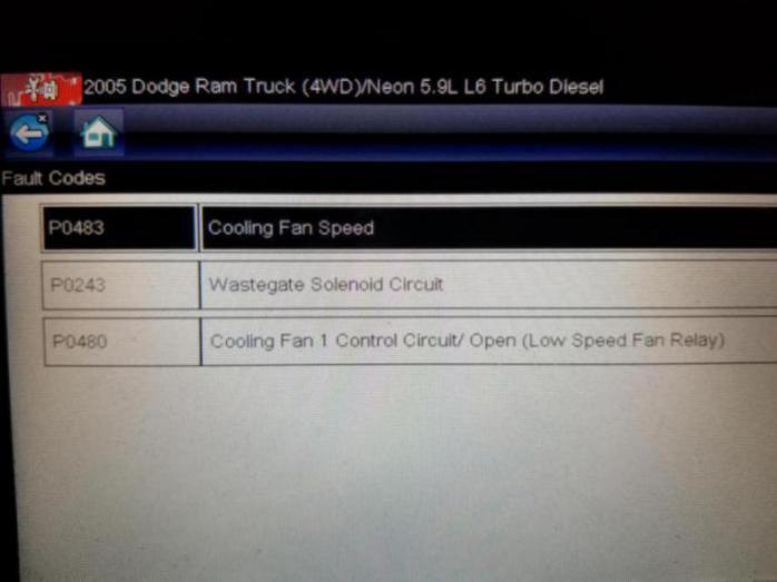 Dodge Fault Codes
