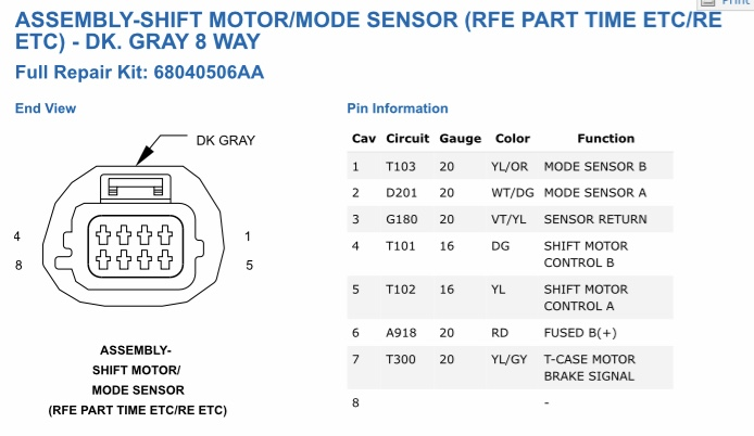 [XOTG_4463]  273D Transfer Case Wiring Plug Help | Dodge Cummins Diesel Forum | 2005 Dodge Ram 1500 Transfer Case Wiring Diagram |  | Cummins Forum