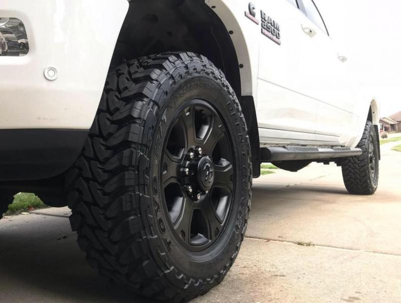 295 toyo 65r20 wheels open country cab 2500 leveled oem mega tire wheel ram dodge gen forum cummins diesel truck