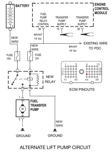 lift pump won't come on for my 99 - Page 2 - Dodge mins ... Airdog Lift Pump Wiring Diagram on