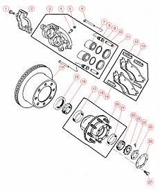 11 1 2 aam rear axle exploded diagram dodge cummins. Black Bedroom Furniture Sets. Home Design Ideas
