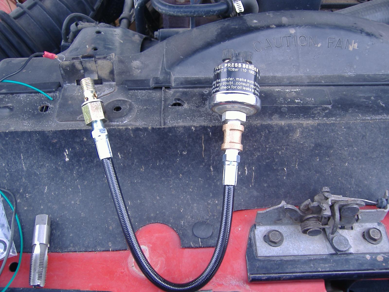 fuel pressure gauge install Dodge Cummins Diesel Forum