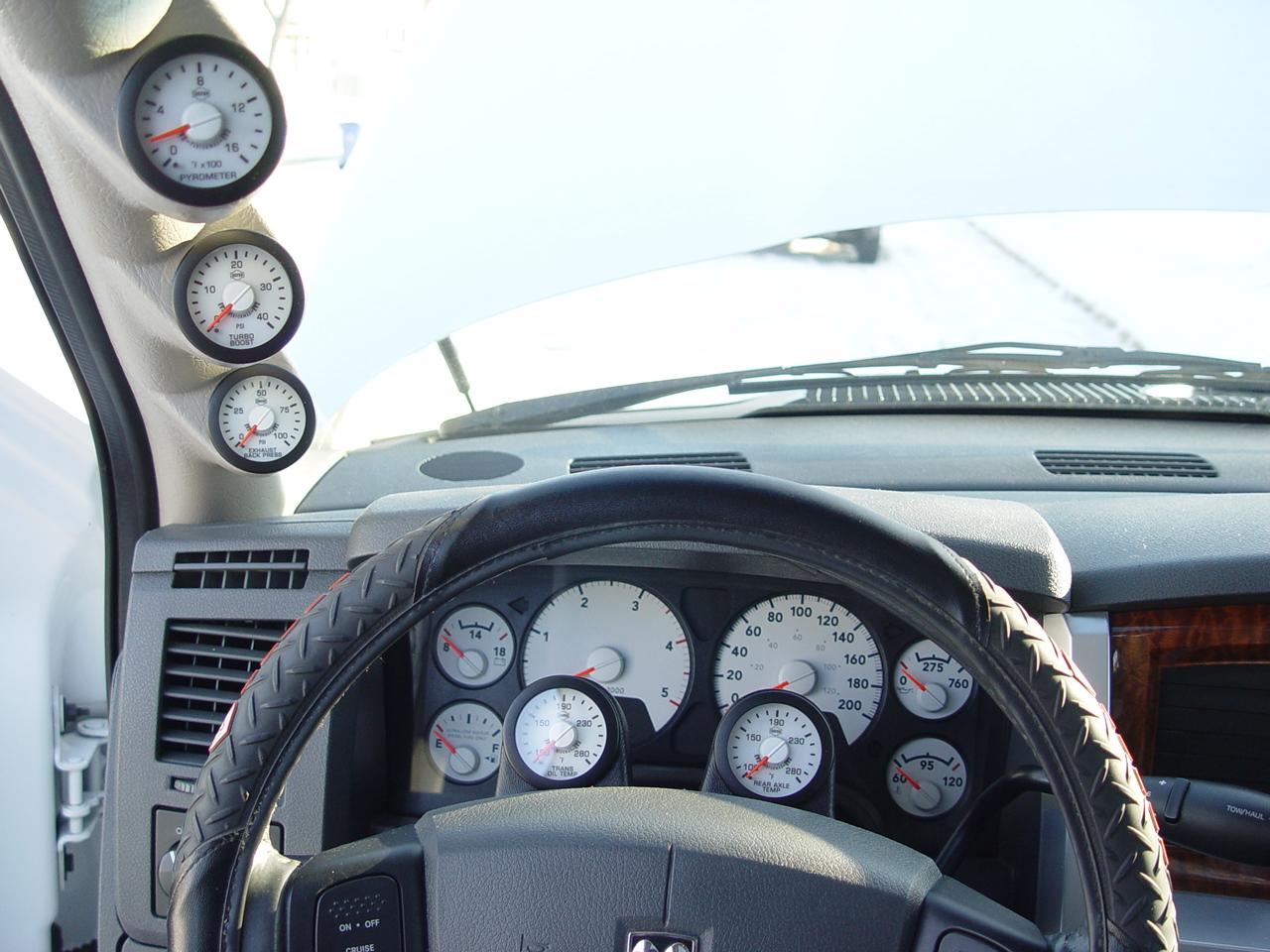 D Rd Gen Isspro Ev Gauge Install Dsc on Dodge Ram 3500 Twin Turbo