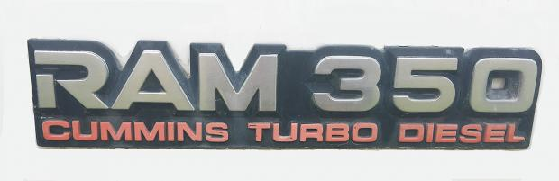 2017 Dodge 3500 >> emblem - Ram 350 Cummins Turbo Diesel - Dodge Cummins ...
