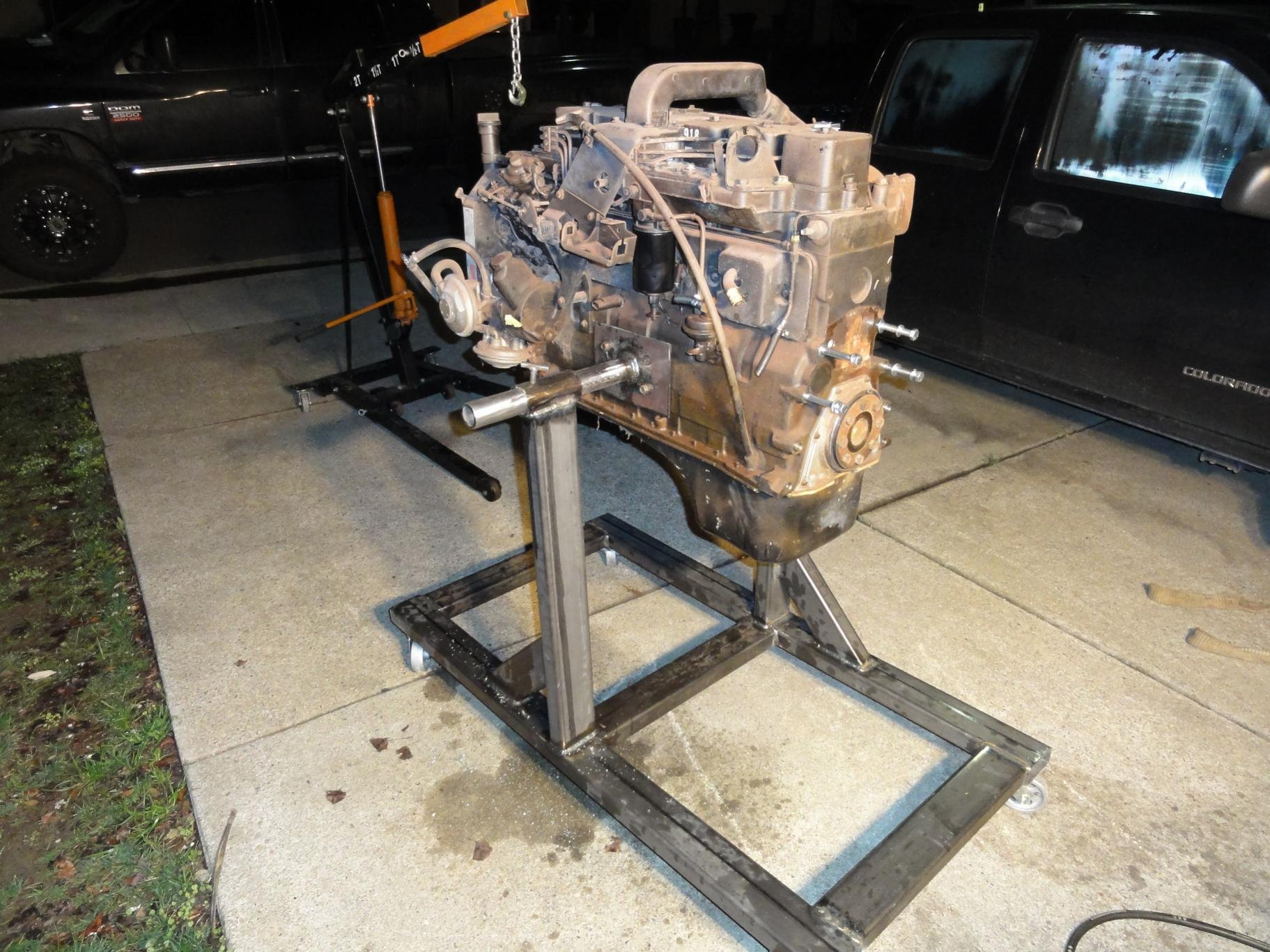 D Chevy Cummins Swap Rock Crawler Project Engine Stand on Chevy Engine Fan