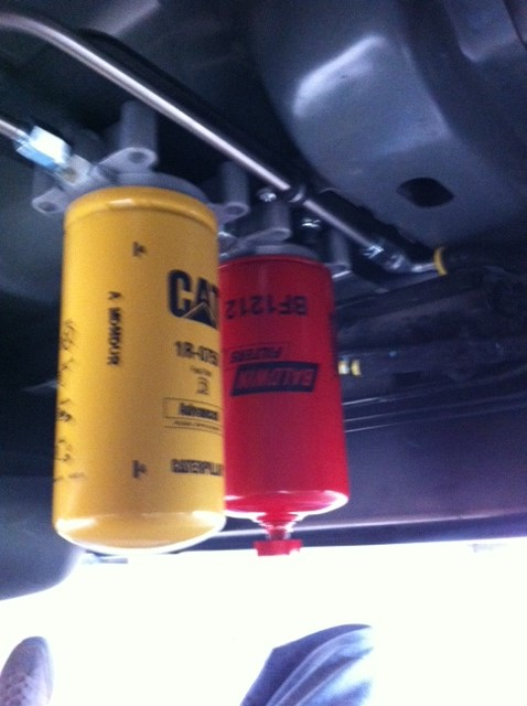 Installed Cat Fuel Filter Today