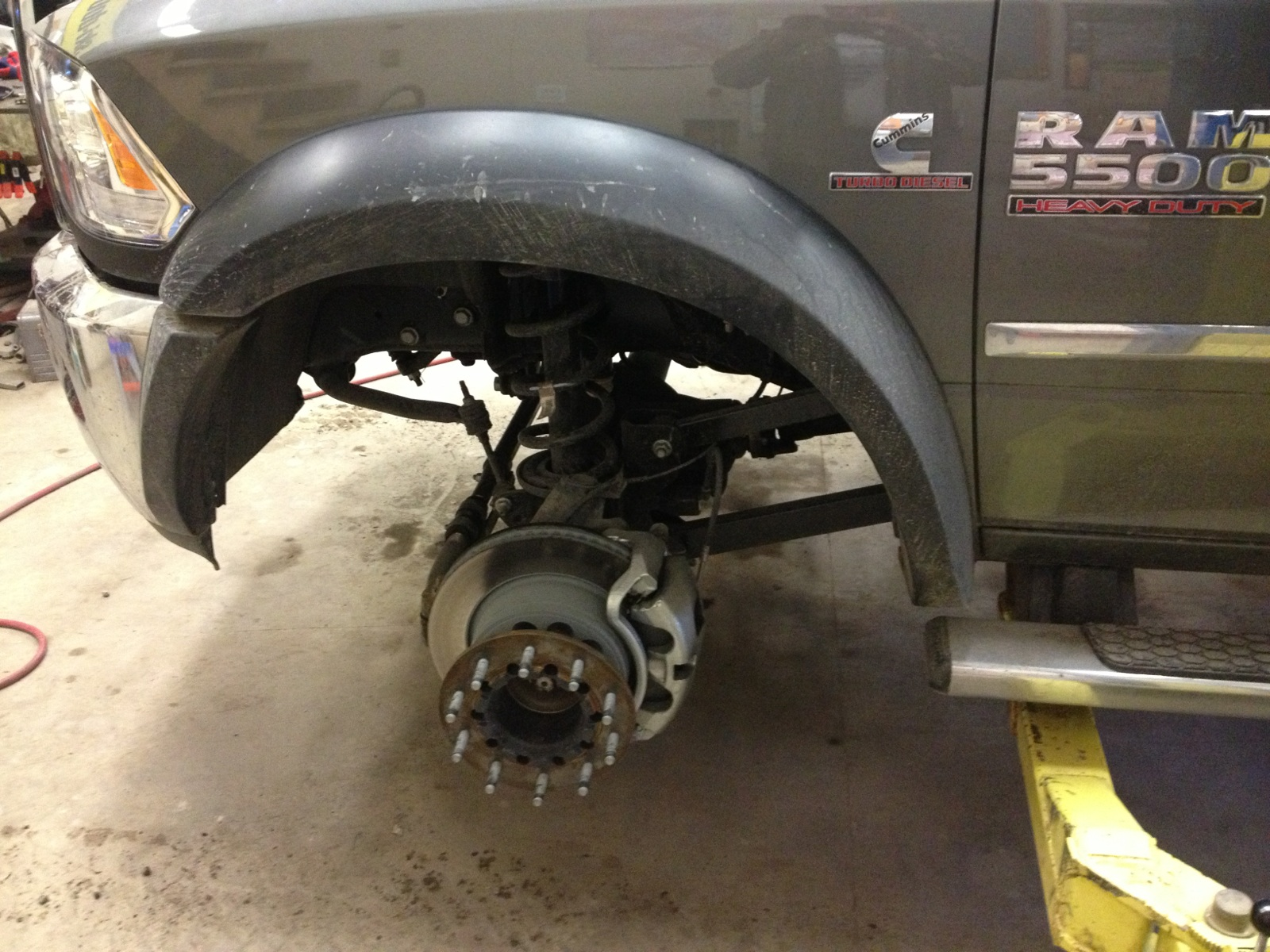 D Srw Pick Up Build Up W Pics Front Axle on Dodge Ram 5500