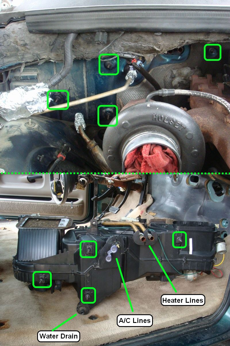 Removing Dashboard - Replacing Evaporator 1995 2500-hvacboxbolts.jpg