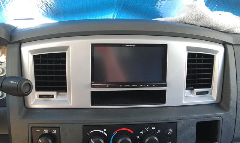 Double Din Navigation Stereo Install And Bezel Mod Dodge Cummins Rhcumminsforum: 2007 Cts Radio Navigation Bezel At Elf-jo.com