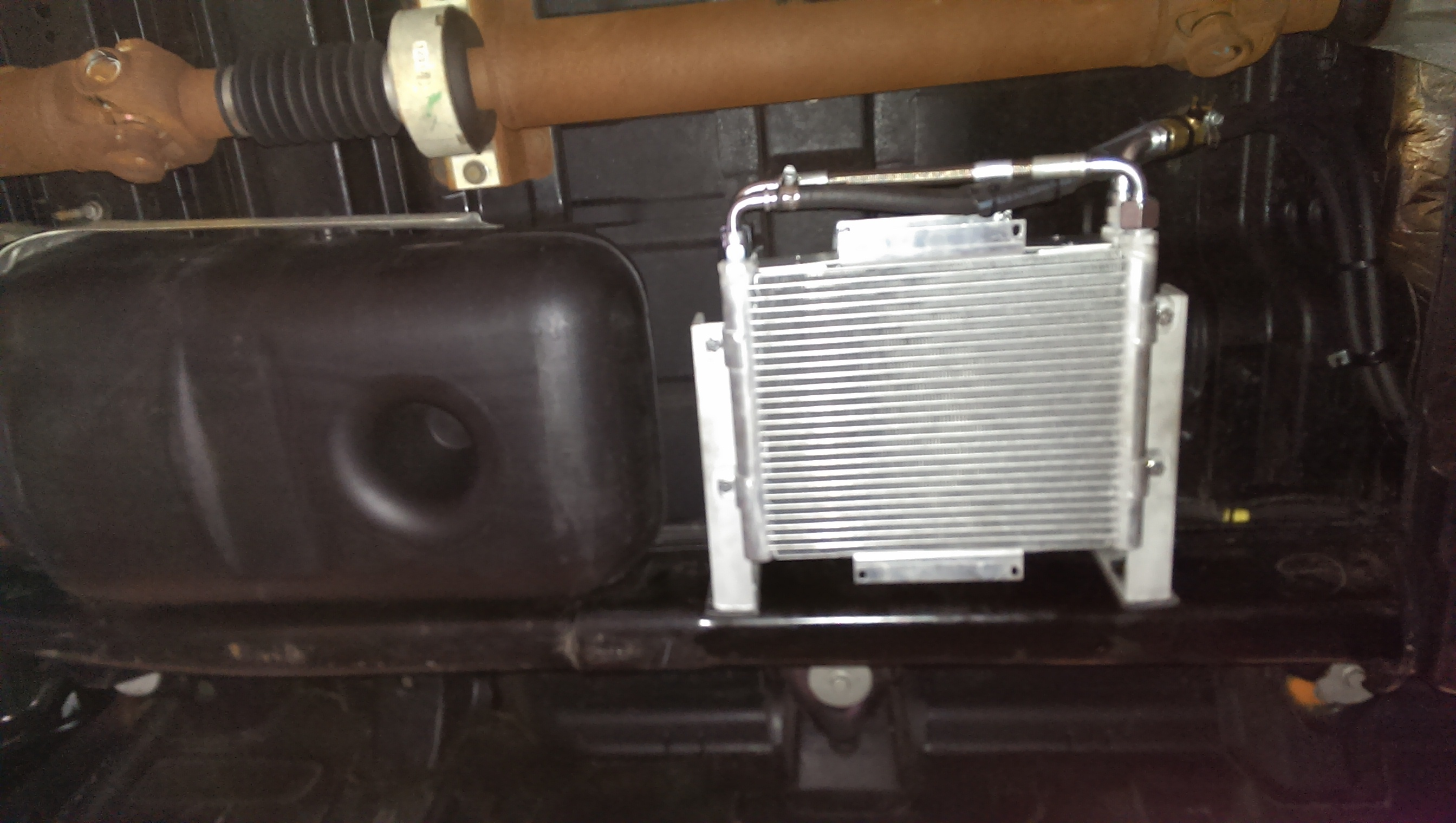 D Bd Dual Stacked Xtrude Trans Cooler Install Imag on Dodge Ram 2500 Diesel