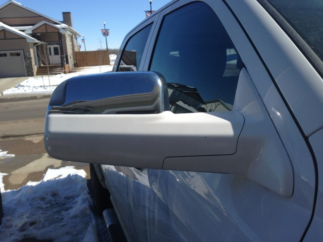 Plasti Dipped Chrome Tow Mirrors! PICS - Page 2 - Dodge Cummins Diesel Forum
