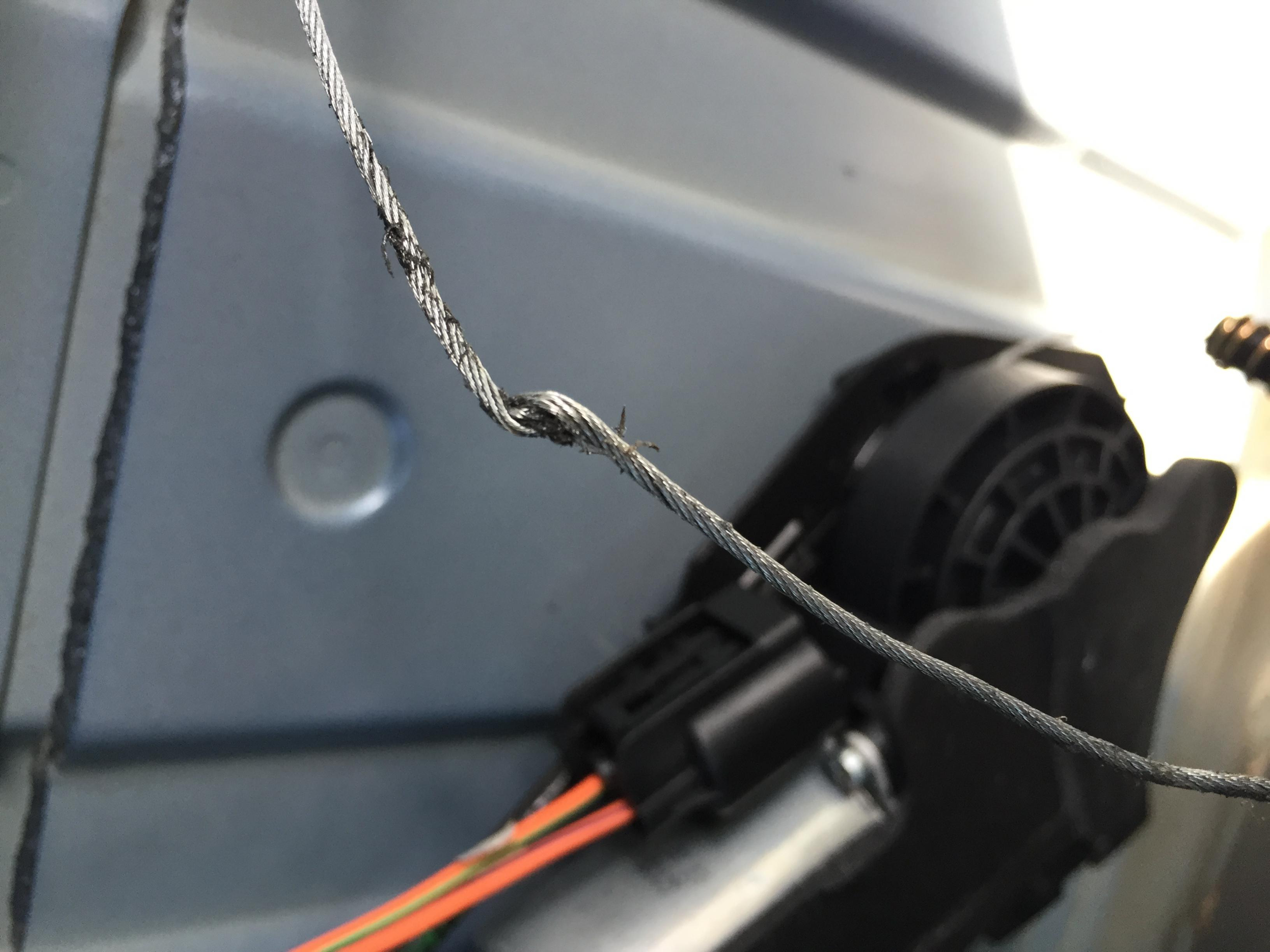 Power Slider Rear Cable To Glass Channel Broke Dodge