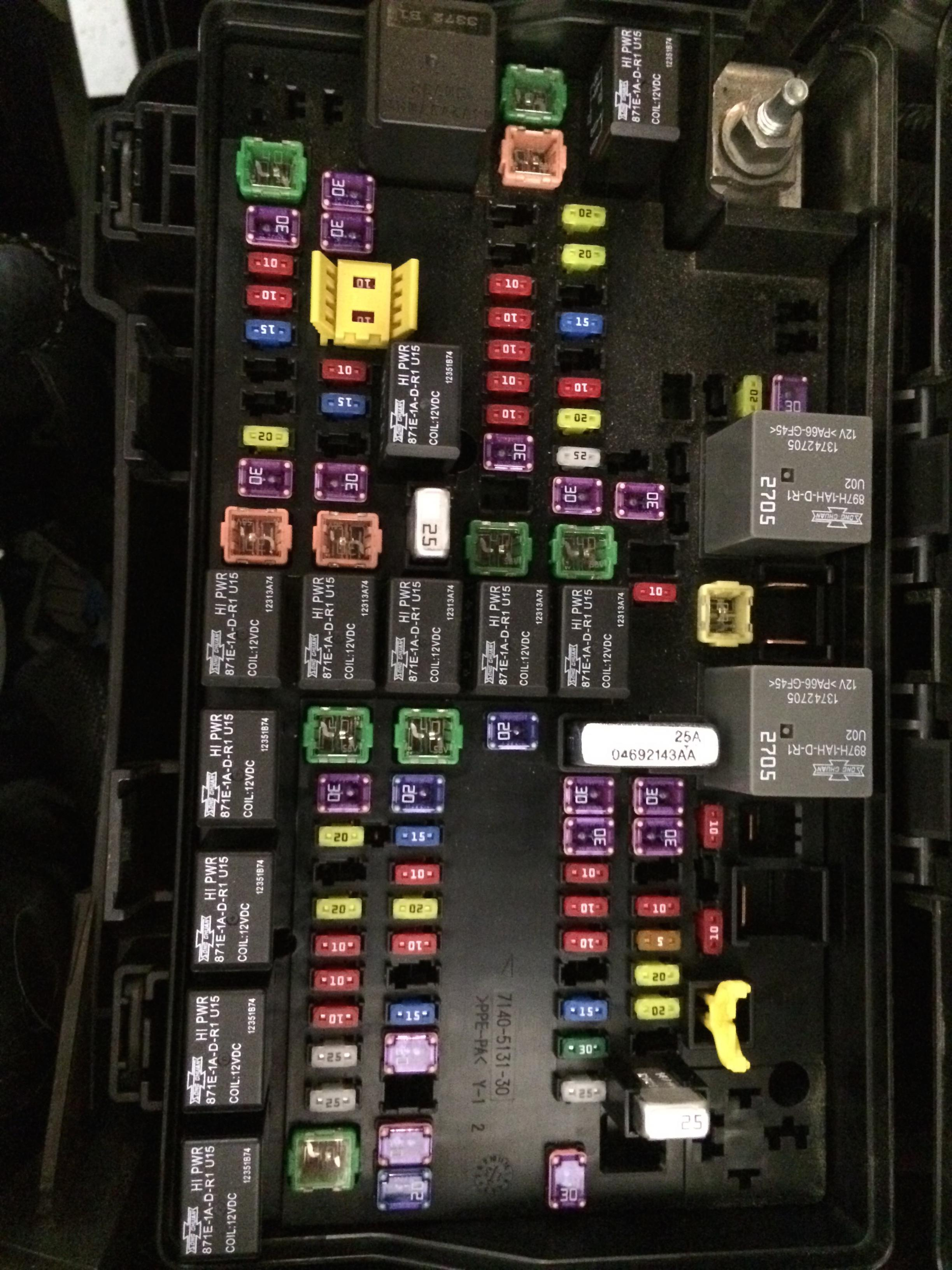 2014 ram 3500 fuse box fuse layout 2013 slt 2500 diesel - dodge cummins diesel forum