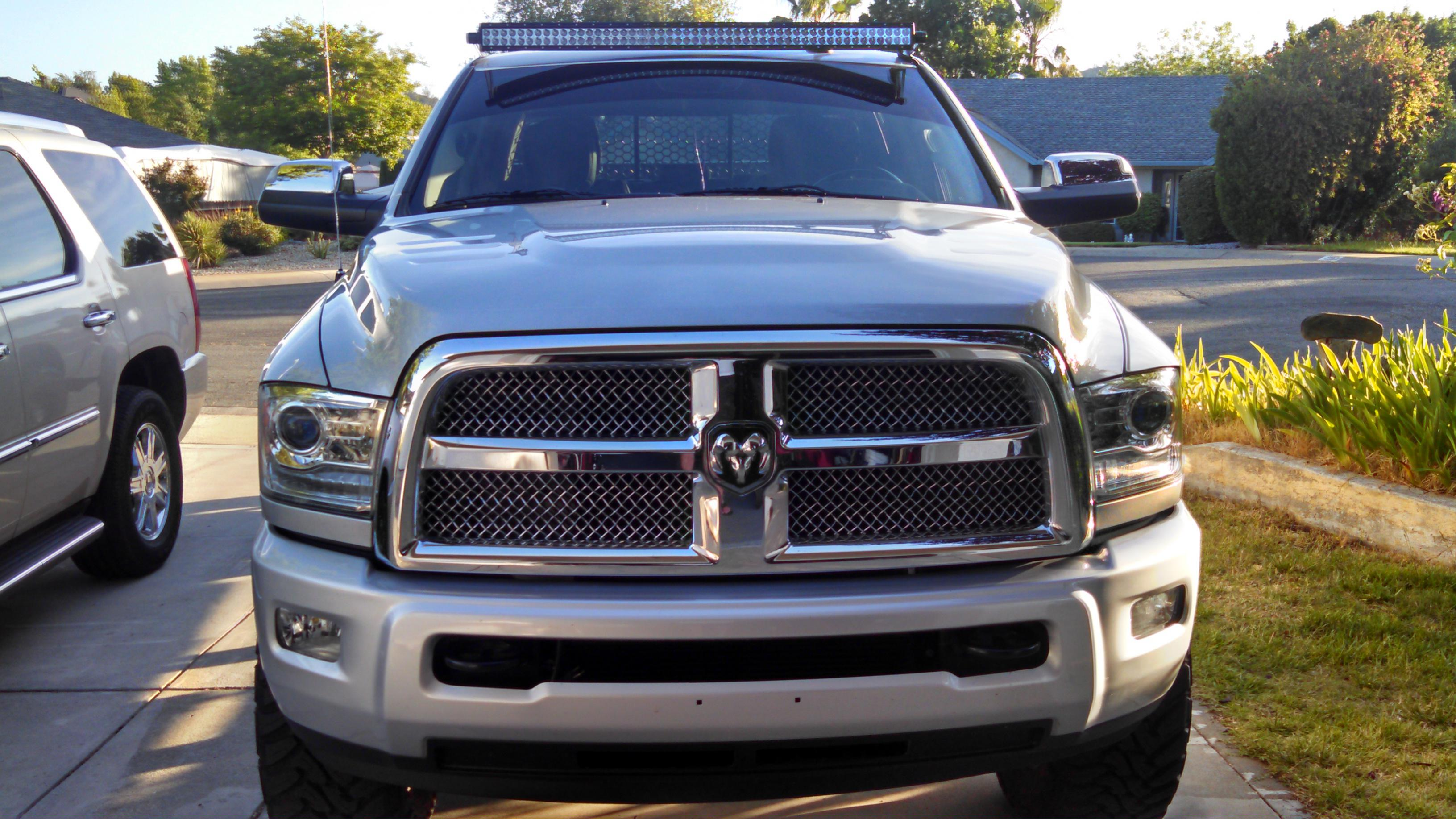 Led light bar and brackets for the front of my 2014 dodge dodge click image for larger version name img20140525192139232g views 10470 size 6567 aloadofball Image collections