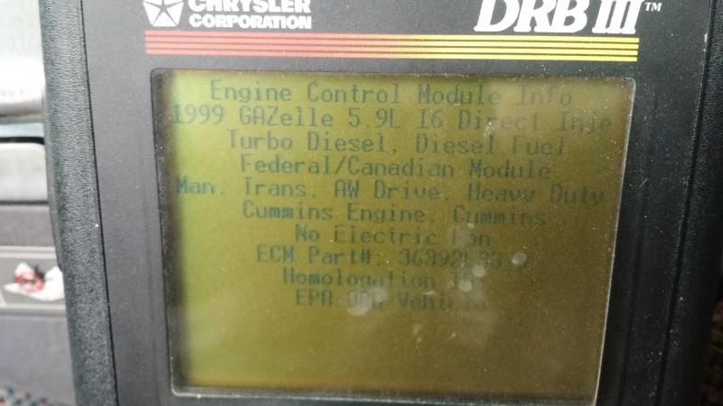 2001 2500 OBD II Issues - Dodge Cummins Diesel Forum