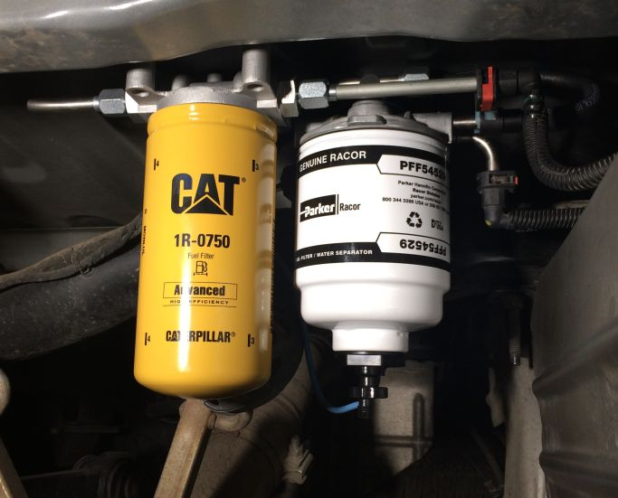 Installed the 2 Micron CAT filter from sel Fuel Filter Kits ...