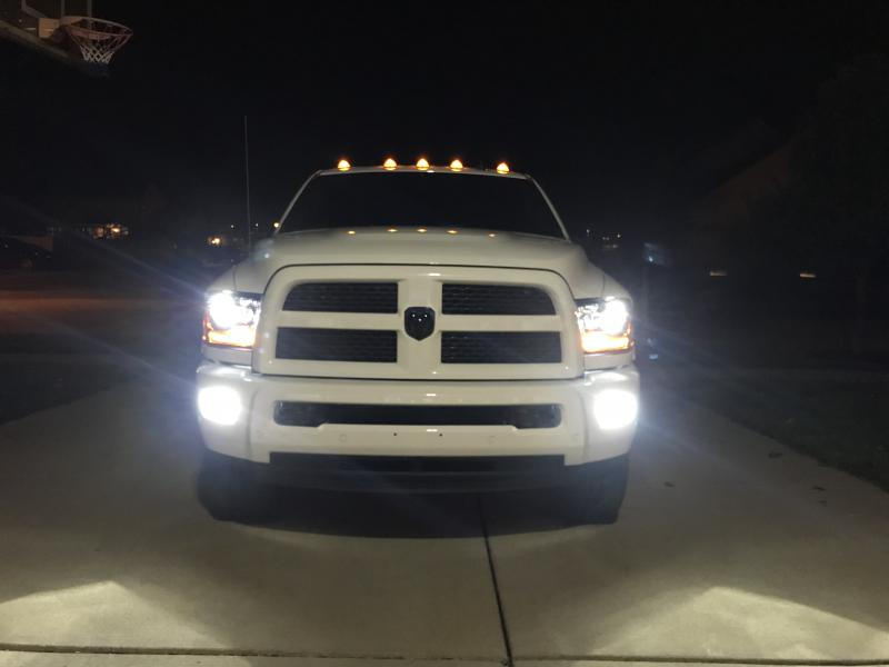 Installed Opt7 Low Beams And Fogs 2017 Ram 2500 With