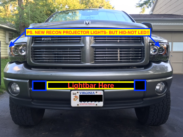 Question for you guys with light bars dodge cummins diesel forum click image for larger version name lightbar exampleg views 843 size aloadofball Images