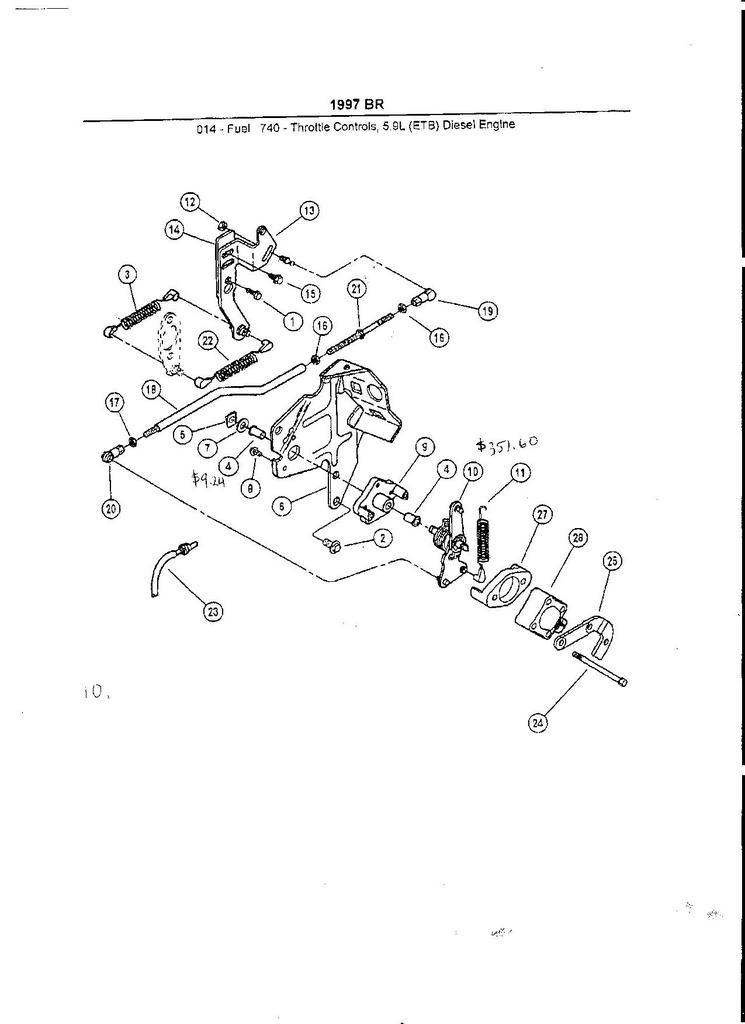 Throttle Linkage Play - P7100