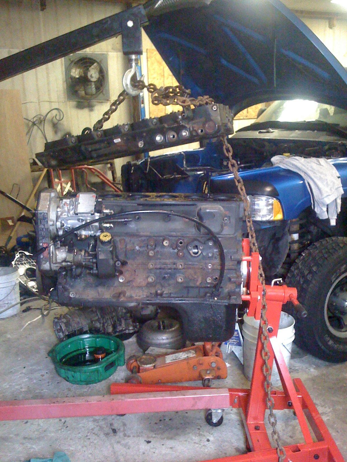 D Cracked Block Swap Picture on Dodge Ram 3500 Diesel