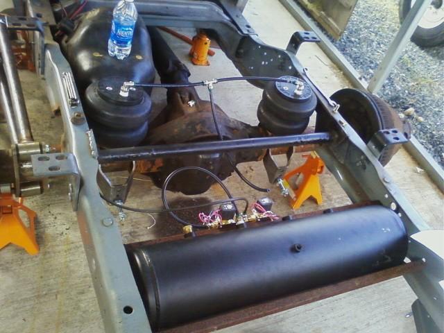 D Slammed Bagged Duallys Rear on 03 Dodge Quad Cab