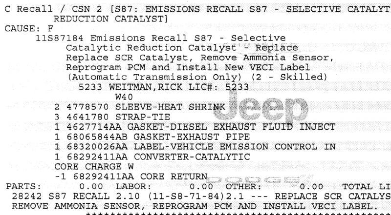 SCR Recall - Then CEL for SCR - Dodge Cummins Diesel Forum