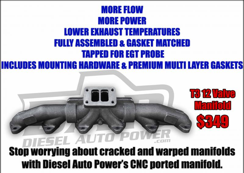 Diesel Auto Power's CNC machined, Fully assembled 12 Valve