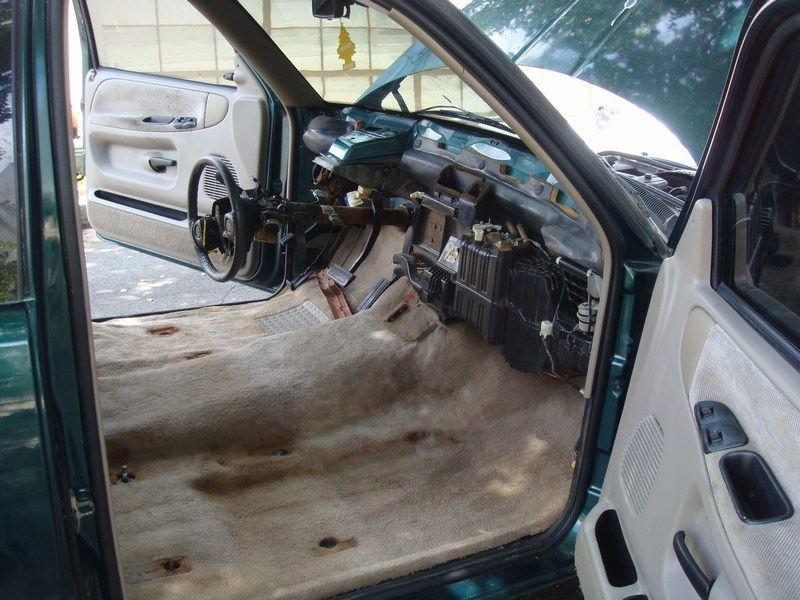 Removing Dashboard Replacing Evaporator 1995 2500